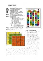 English Worksheets: Tense Race