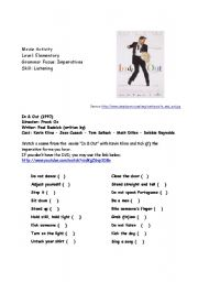English Worksheets: Movie Activity: In & Out