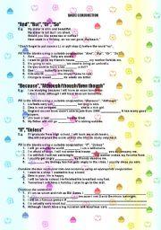 English Worksheets: Basic Conjunction
