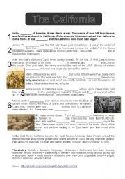 English Worksheet: The California Gold Rush