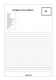 English Worksheets: Introducing myself