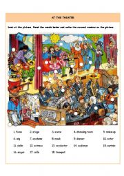 English Worksheet: At the theater
