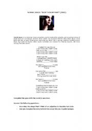 English Worksheet: Song: Norah Jones�