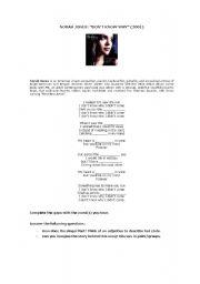 English Worksheets: Song: Norah Jones�