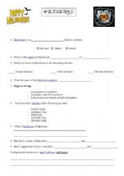 english worksheets halloween webquest - Halloween Web Quest