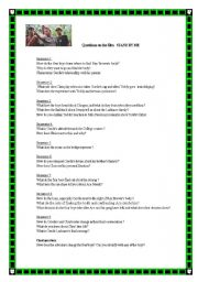 English Worksheet: Watching activities for the movie STAND BY ME