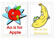 English Worksheet: Alphabet Flash-cards (A-F)
