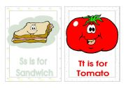 English Worksheet: Alphabet Flash-cards.(S-V)