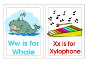 English Worksheet: Alphabet Flash-cards. (W-Z)