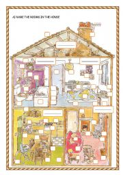English Worksheets: IN THE HOUSE/ THERE + BE