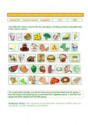 Worksheets Food Groups Worksheets english teaching worksheets food groups five basic groups