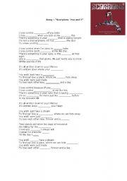 English worksheet: Lyrics You and I - Scorpions