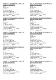 English Worksheet: POLITE WAYS OF ASKING SOMEONE TO REPEAT SOMTHING