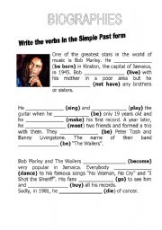 English Worksheets: Biographies