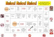 English Worksheet: Rules game