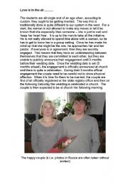 English Worksheet: Russian Marriage