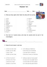 english placement test for beginners pdf