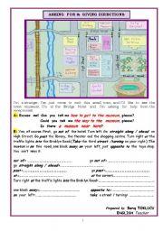 esl worksheets for beginners asking for giving directions. Black Bedroom Furniture Sets. Home Design Ideas