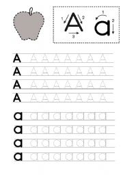 English Worksheet: Kindergarten Writing Foundation A-C