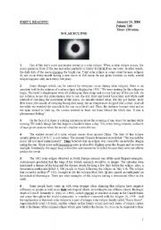english worksheet reading about solar eclipse. Black Bedroom Furniture Sets. Home Design Ideas