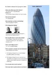 English Worksheets: The Gherkin