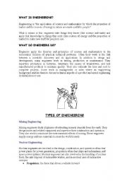 English Worksheets: What is Engineering?