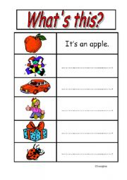 English Worksheets: What�sthis?