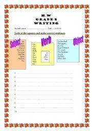English worksheet: to improve your writing skills
