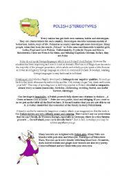 English Worksheet: Polish stereotypes