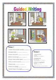 English Worksheets: Guided writing N� 2
