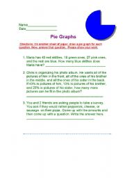 English Worksheets: Pie Graphs