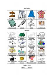 English Worksheets: Desert Island Conversation Game (3 of 3)