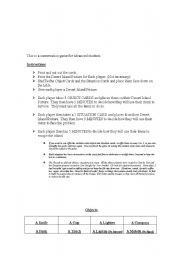 English Worksheet: Desert Island Conversation Game (No pics)