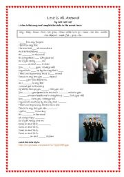 English Worksheets: Song Love is all around by wet  wet wet