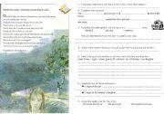 English Worksheets: a strange girl