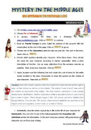 English Worksheet: Mystery in the Middle Ages