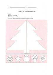 English Worksheet: Build a Christmas Tree