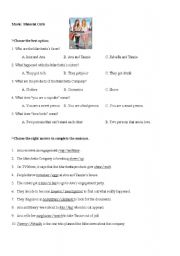 English Worksheets: Movie: Material Girls