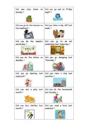 Simple Past Cards