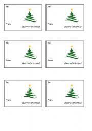 English worksheet: Christmas Cards
