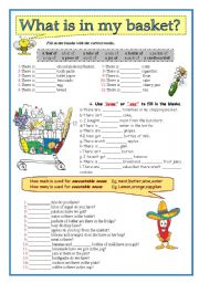 English Worksheet: What is in my basket?