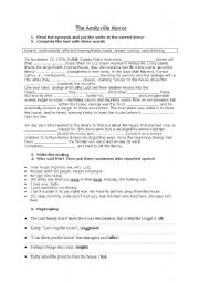 English Worksheets: The Amityville Horror - activities for the movie