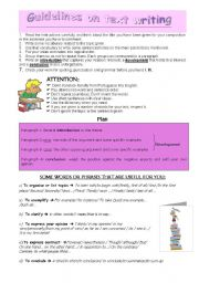 English Worksheets: Guidelines on text writing