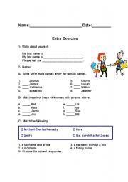 English worksheet: First Classes