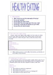 Printables Healthy Lifestyle Worksheets english teaching worksheets health healthy eating