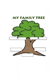 English worksheets family tree template for Interactive family tree template