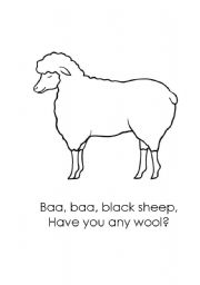 English Worksheet: Baa Baa Black Sheep