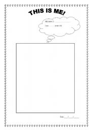Self-Portrait Templates | All about me, For kids and Kid