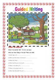 English Worksheet: Guided writing Nº 3