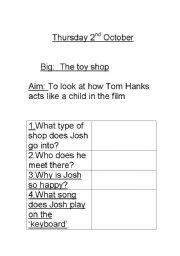 English Worksheets: Big Tom Hanks